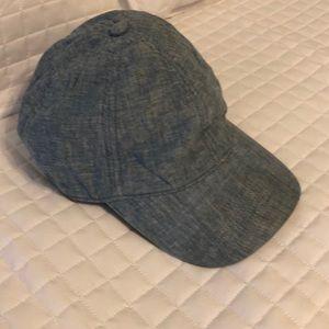 JCrew denim baseball cap for women